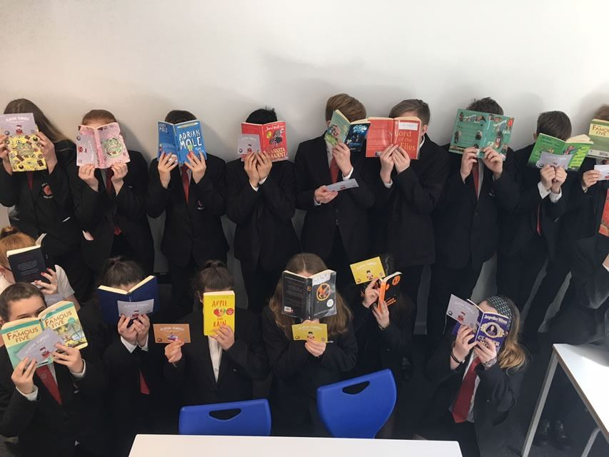 Year 8 pupils enjoying the summer reading challenge